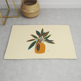 PLANT WITH COLOURFUL LEAVES  Rug