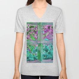 505 - Abstract Glass Design Unisex V-Neck