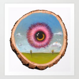 Fuzzy Pink Eyeball Art Print