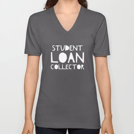 Scariest Halloween Costume Ever – Student Loan Collector Unisex V-Neck