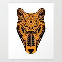 jaguar Art Prints featuring jaguar by danta
