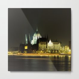 Budapest at night Metal Print