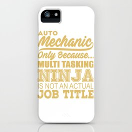 Mechanic Ninja iPhone Case