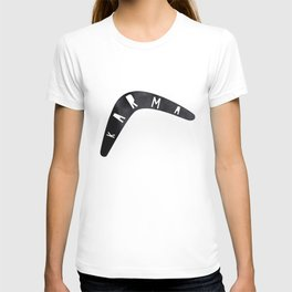Karma / poster, boomerang, art print, pictures, scandinavian, nursery, deco, family, saying, christm T-shirt