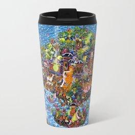 Bali Map Art Painting  Travel Mug