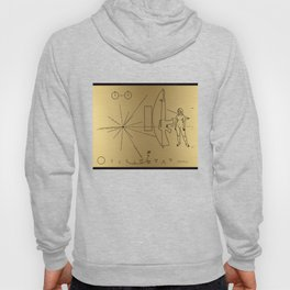 We Come With Piece (Pioneer probe plaque) by Dan Levin Hoody