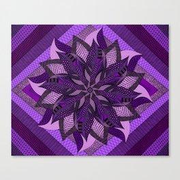 Bright Purple/Pink Mandala Canvas Print