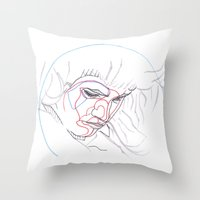 olivia joy Throw Pillows featuring Olivia by weshouldbestrangers