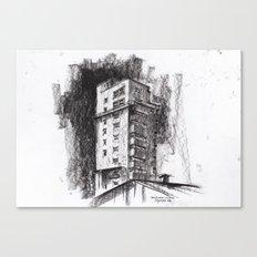 Tablattturm Stuttgart - charcoal Canvas Print