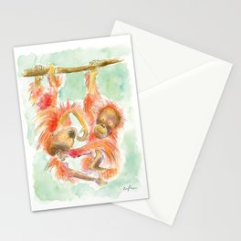 Orangutans Stationery Cards