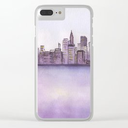 City sunset. Clear iPhone Case