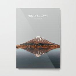 Mount Taranaki, New Zealand Artwork Metal Print