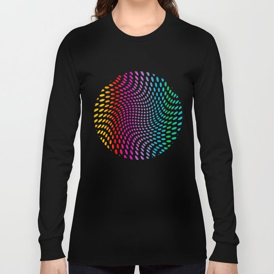 Approaching and receding shapes in CMYK - Optical game 17 Long Sleeve T-shirt