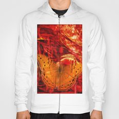 Butterfly in red universe Hoody