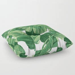 Tropical banana leaves IV Floor Pillow