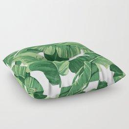 Tropical banana leaves IV Floor Pillow