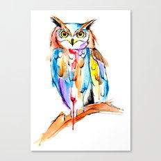 watercolor owl Canvas Print