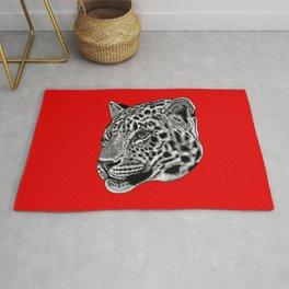 Amur leopard cub - red - big cat Rug