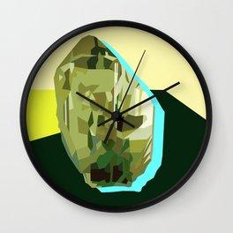 Olive Gem Wall Clock