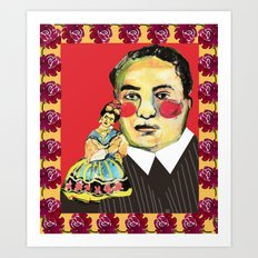 frida and diego Art Print