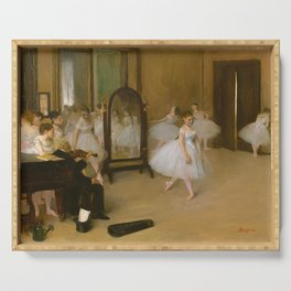 The Dancing Class by Edgar Degas, 1870 Serving Tray