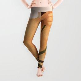 Model with Leaf Leggings