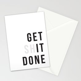 Get Sh(it) Done // Get Shit Done Stationery Cards