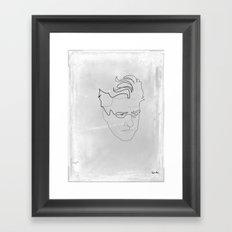 One line David Lynch Framed Art Print