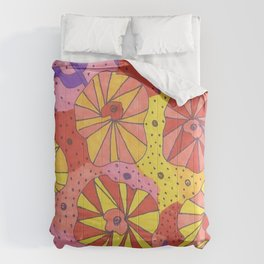 Gallactic Garden Colorful Art Comforters