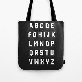 Typography Alphabet #3 Tote Bag