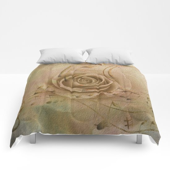 Timeless Love Abstract Comforters