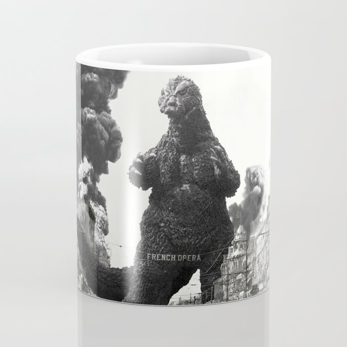 New Orleans Godzilla Attack 1908 Coffee Mug