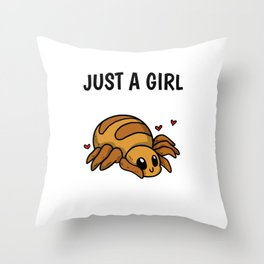 Just A Girl Who Loves Spiders Cute Spider Costume Throw Pillow