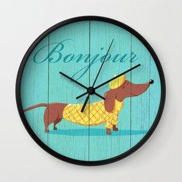 Bonjour Chiot Wall Clock