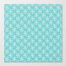 Pale Turquoise Snow Canvas Print
