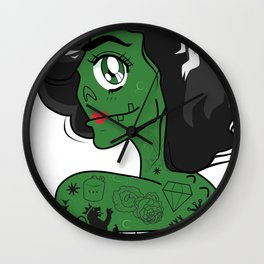 QT 3.14 Zombie Girl Wall Clock