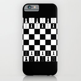 Chess Board Layout iPhone Case