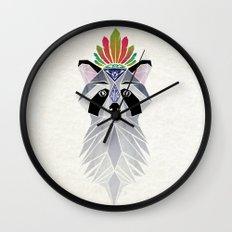raccoon spirit Wall Clock