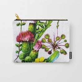 Vintage Wildflowers Thistle Carry-All Pouch