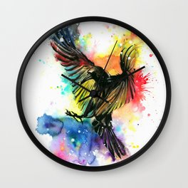 The colourful crow Wall Clock