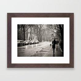 New York City - Rain Framed Art Print