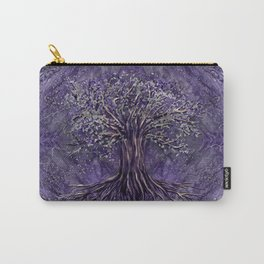 Tree of life -Yggdrasil Amethyst and silver Carry-All Pouch