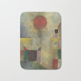 Red Balloon by Paul Klee Bath Mat