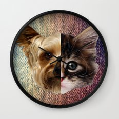 CatDog 2 Wall Clock