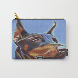 Blue Doberman Carry-All Pouch