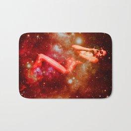 Red Galaxy Woman : Nude Art Bath Mat