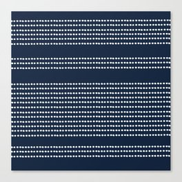 Spotted, African Pattern in Blue and White Canvas Print