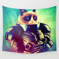 grumpy Wall Tapestries featuring GRUMPY STRAX by Chewgowski