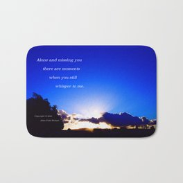 """Flickering Sunset"" with poem: There Are Moments Bath Mat"