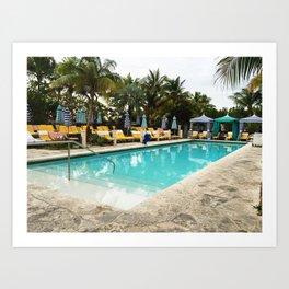 pool side miami Art Print